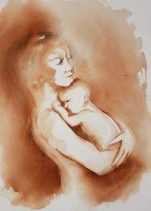 akvarell av Elin R.Steiro