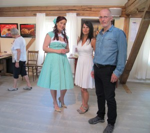 All three artists; Inga Dalsegg, Yvonne Jeanette Karlsen and Rolf Øidvin
