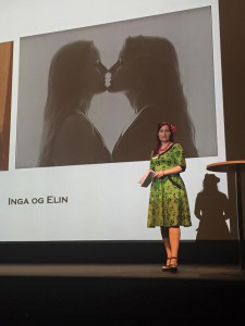 Inga holder foredrag under Kulturkonferanse 2016