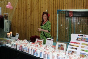 Inga at her stall at Winter Noise in Meldal