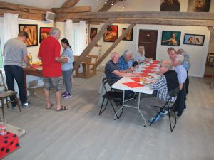 Guests from Rotary visiting me at Dalalåven Art Studio