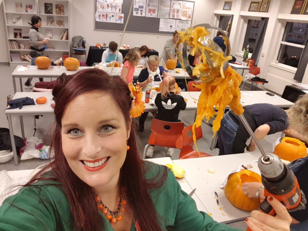 From my pumpkin carving workshop at Hustad Garden association in Fræna